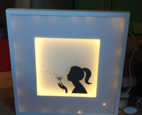 Artwork - Beleuchteter Bilderrahmen